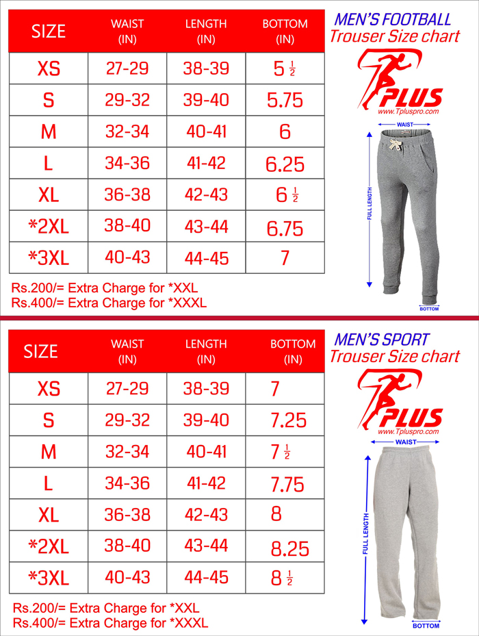 Trouser Size Chart