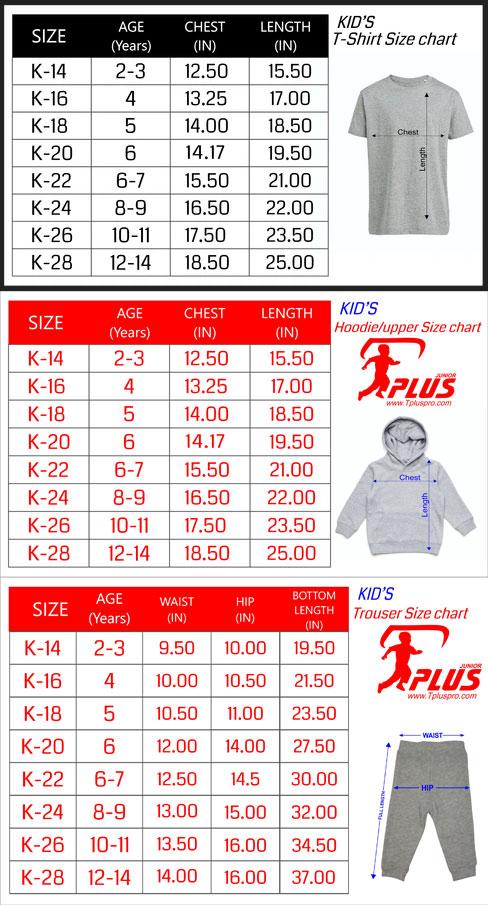 Kids Size Charts