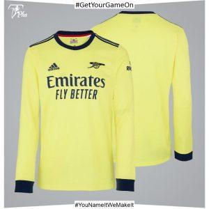 Arsenal Adult 21-22 Long Sleeved Away Shirt