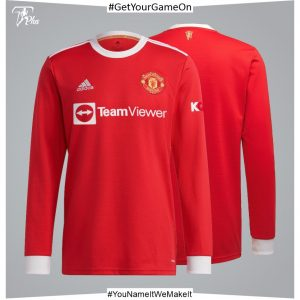Manchester United Home Shirt 2021-22 Long Sleeve