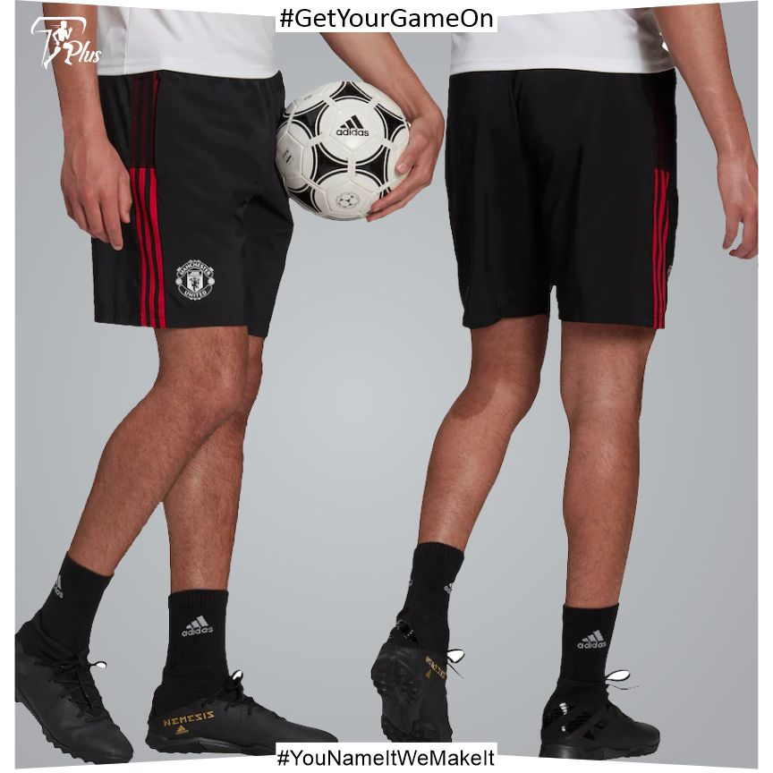 Manchester United Training Down Time Shorts-Black 2021-22