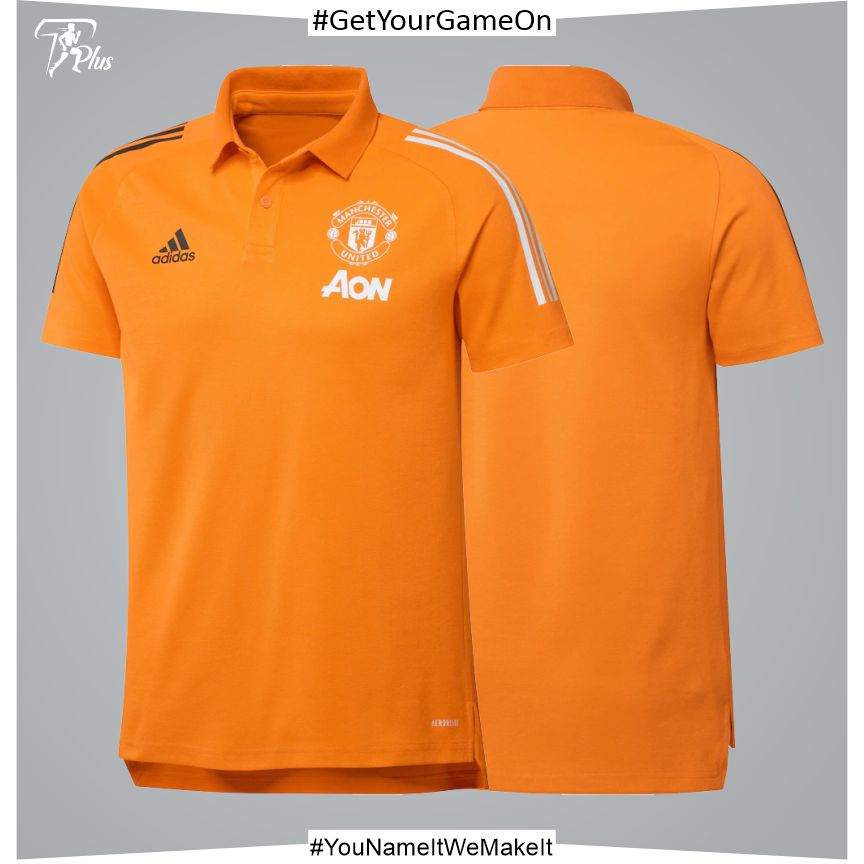Manchester United Training Polo - Orange 2021-22
