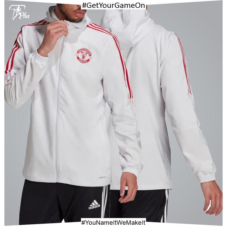 Manchester United Training Presentation Jacket - Grey 2021-22