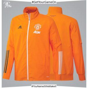Manchester United Training Presentation Jacket - Orange 2021-22