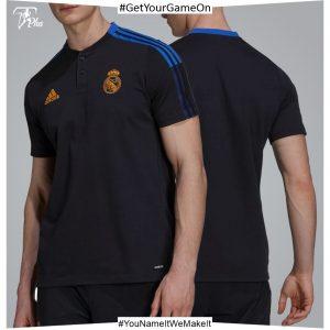 Real Madrid Mens Training Polo 21-22 - Black